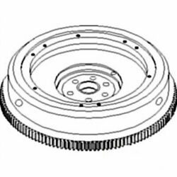 Flywheel With Ring Gear Compatible With International 464 454 2400a Case Ih