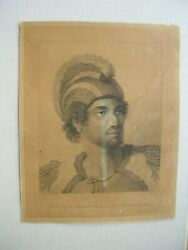 John Webber Voyages Of Captain Cook, Engraving Etching Plate 64, 1784-1992