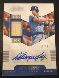2020 Panini Absolute Dale Murphy Auto/game-used Bat Relic 49/49 Iconic Ink