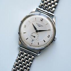 Rare Vintage Longines Grand Classic L4.685.4 Automatic Silver Dial Asia Heritage