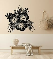 Vinyl Wall Decal Beauty Flowers Bud Floral Interior Bedroom Stickers g5686