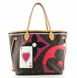 Louis Vuitton Neverfull Nm Tote Limited Edition Game On Monogram Canvas Mm