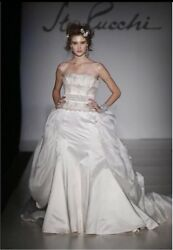St.pucchi By Rani Wedding Bridal Gown,dress,9386,sz 10,silk,natural,silver,new5