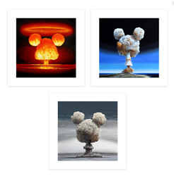 Jeff Gillette Bombs Set Of Three 3 Prints Xx/100 Ships Now Mint Condition