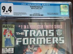 Transformers 1 Cgc 9.4 1984 White Pages Origin And 1st App Autobots Decepticons