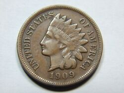 1909-s 1c Indian Head Cent Xf Better Date