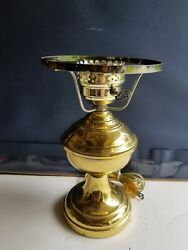 Vtg Brass 12 Electrified And Weighted Gwtw Lamp
