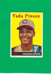 1958 Topps 420 Vada Pinson Reds Rookie Rc Ex/mt