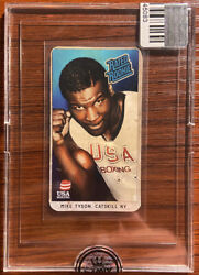 1984 Mike Tyson Usa Boxing Rated Rookie Kid Dynamite Remixed Tobacco Card Rare