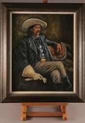 Western Oil Painting Of Custer