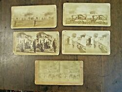 Lot Of 5 Stereoviews Of Aguinaldo's Hq And Etc. In Philippines