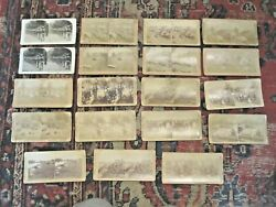 Lot Of 19 Stereoviews - Us Troops In Battle, Training, Action In Philippines