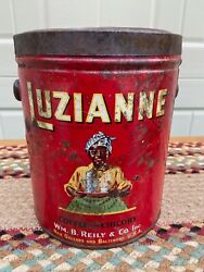 Vintage Luzianne Coffee 3 Pound Can With Embossed Lid