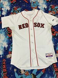 2011 Game Worn Team Issued Boston Red Sox Jed Lowrie Mlb Jersey Sz 44 Majestic