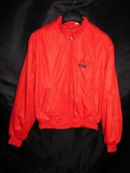 Vintage Members Only Size 42 M Red Jacket By Europe Craft Cafe Racer Windbreaker