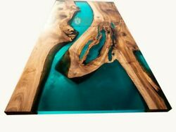 River Table Epoxy Resin Table Epoxy Resin Rustic Table Acacia Wooden Decors