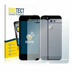Apple Iphone 5s Front+back 2x Brotectandreg Matte Screen Protector Anti-glare