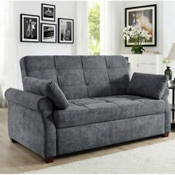 Convertible Queen Sofa Bed Gray Finish Luxury Sofas For Living Room
