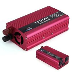 Auto Power Inverter 1500w Dc 12v To Ac 110v Converter Usb Charger Adapter 3.1a