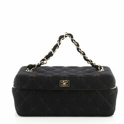 Vintage Chain Handle Vanity Bag Quilted Jersey