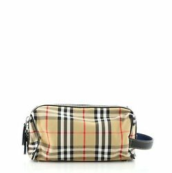 Burberry Cosmetic Pouch Vintage Check Canvas $402.00
