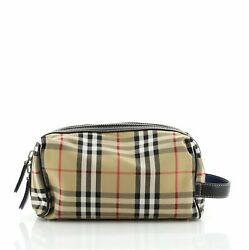 Burberry Cosmetic Pouch Vintage Check Canvas $420.00