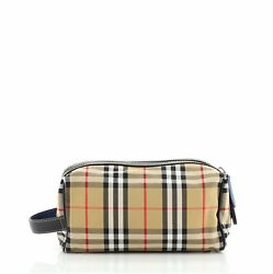 Burberry Cosmetic Pouch Vintage Check Canvas $384.00