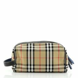 Burberry Cosmetic Pouch Vintage Check Canvas $336.00