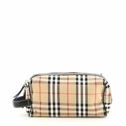 Burberry Cosmetic Pouch Vintage Check Canvas $324.00