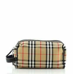 Burberry Cosmetic Pouch Vintage Check Canvas $348.00