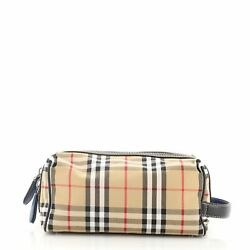 Burberry Cosmetic Pouch Vintage Check Canvas $498.00