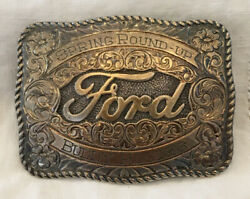 Ford San Carlos 22k Gold Sterling Silver Belt Buckle Buddy Rogers Rare