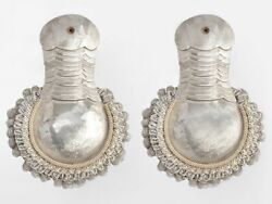 General Cavalry Officers Epaulettes Epaulets Silver Wwi Ria Russia Cossack Guard