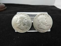 1949-d And 1949-s Franklin Half Dollars 50c Silver