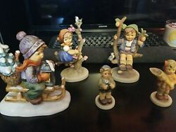 Vintage Hummel 141/1 Apple Tree Girl And Boy With More Lot ..