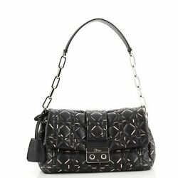 Christian Dior Miss Dior Flap Bag Printed Cannage Quilted Lambskin Medium