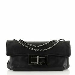 Chanel Giant Mademoiselle Lock Chain Shoulder Bag Leather Small $1287.00