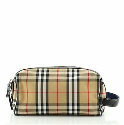 Burberry Cosmetic Pouch Vintage Check Canvas $522.00
