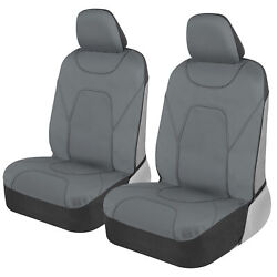 2 Piece Front Car Seat Covers 100 Waterproof Polyester Neoprene Solid Gray