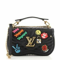 Louis Vuitton New Wave Chain Bag Limited Edition Patches Quilted Leather Mm