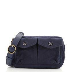 Double Pocket Waist Bag Quilted Canvas Small