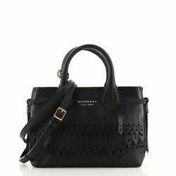 Brogue Banner Tote Fringed Leather Mini