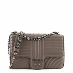Prada Chain Flap Shoulder Bag Diagramme Quilted Leather Large