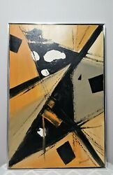 Tom Hayward Original Mid Century Modern Oil on Canvas Abstract Painting Signed