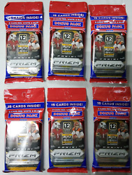 Panini Prizm Lot Of 6 X 2020 Nfl Cello Pack Football Cards New