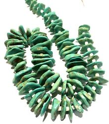 Spectacular Navajo Old Turquoise Nugget Shell Heshi Bead Necklace 30 170 Grams