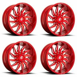 Set 4 20 Fuel D745 Saber 20x9 Candy Red Milled 5x5 For Jeep Wheels 1mm Rims