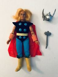 Nearly All Original 100 Complete 1970s Mego Marvel 8 Figure Thor Avengers Mint