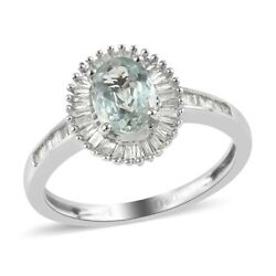 14k White Gold Aaa Alexandrite Diamond Ring Ct 1.1 H Color I3 Clarity
