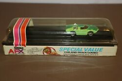 1972 Aurora Afx A/fx Too Much Ho Slot Car And Track Factory Sealed Cube 1754 Green